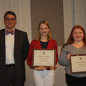 PMS All-Virginia Middle School Honors Chorus Students