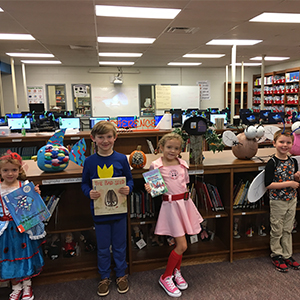 Storybook Pumpkin Patch Celebrates Reading at Poquoson Primary School